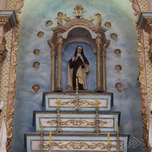 Imagem de Santa Teresa D'Ávila. Foto de Fernando Nascimento