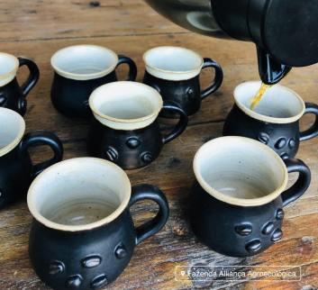 Café feito na Fazenda Alliança Agroecológica